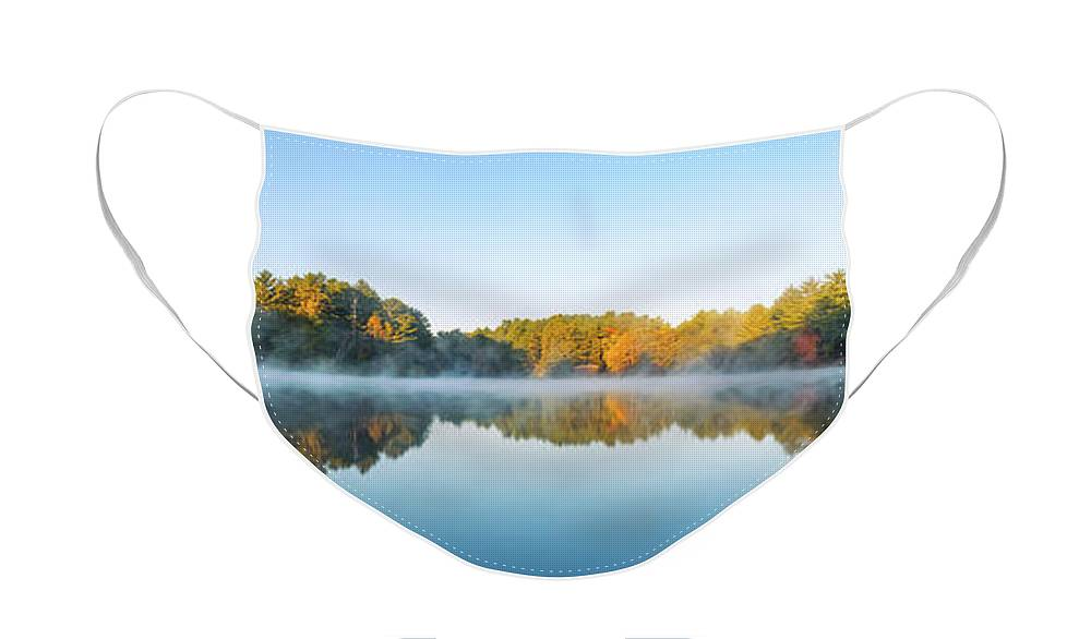 Mirror Lake State Park Face Mask featuring the photograph Mirror Lake by Scott Norris
