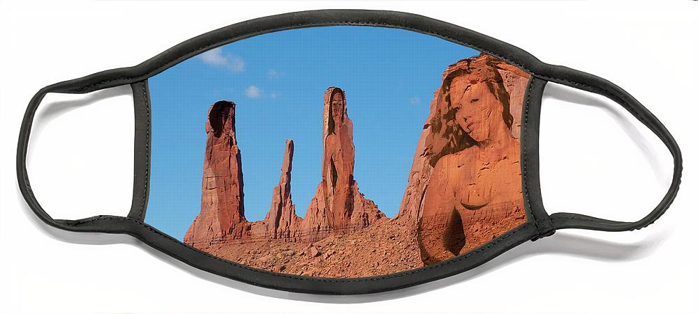 Monument Valley Face Mask featuring the photograph Monument Valley Nymph #3 by Richard Henne