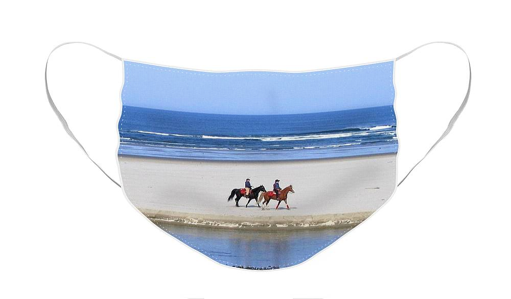 Horses Face Mask featuring the photograph Morning Ride by Will Borden
