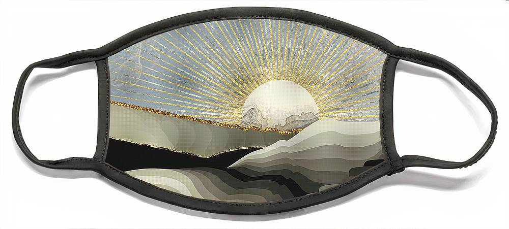 Morning Face Mask featuring the digital art Morning Sun by Katherine Smit