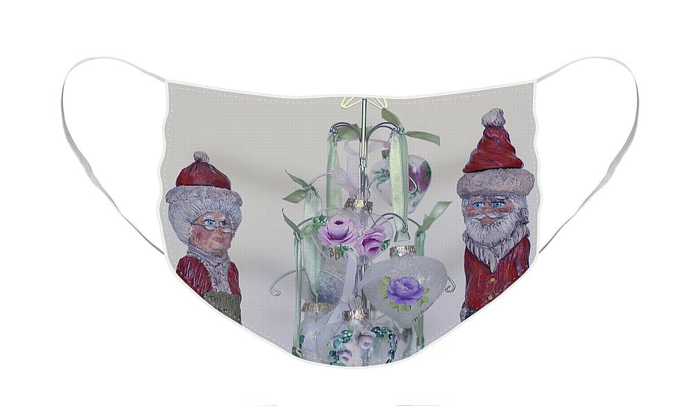 Santa Face Mask featuring the photograph Mr. and Mrs. Santa Claus by Quwatha Valentine