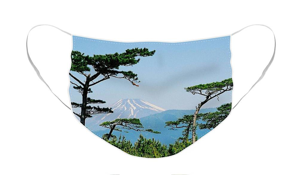 Asia Face Mask featuring the photograph Mt. Fuji ... by Juergen Weiss