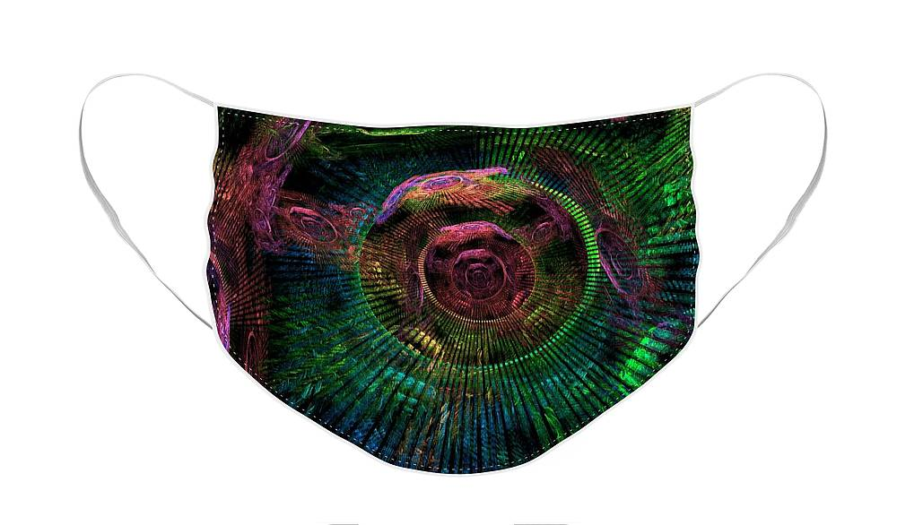 Fractal Face Mask featuring the digital art My Mind's Eye by Lyle Hatch