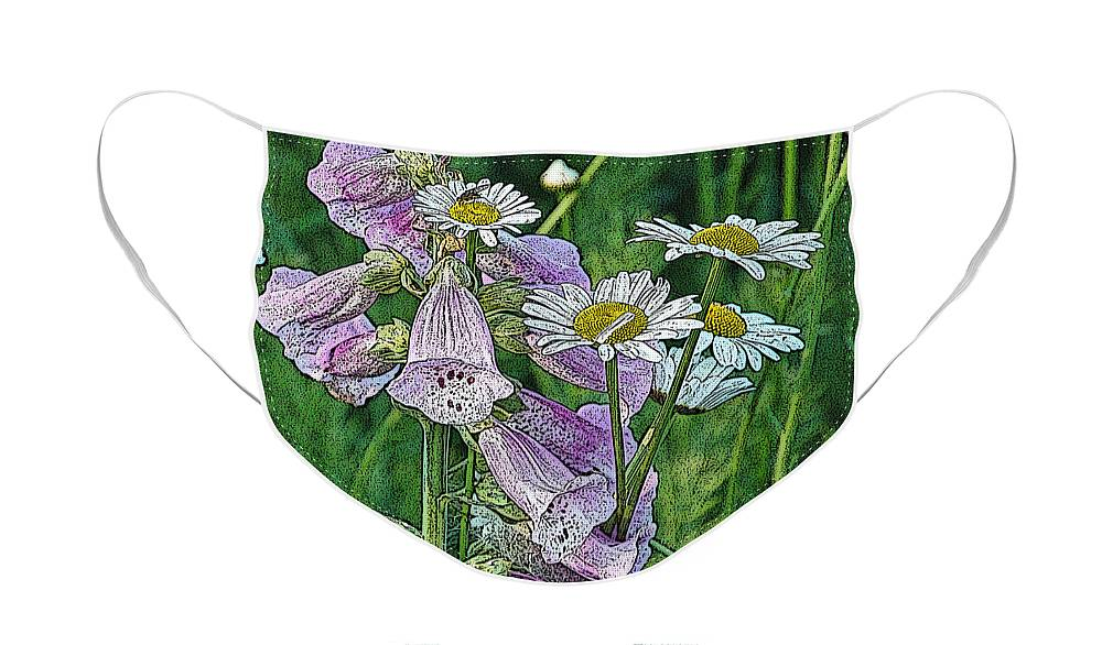 Diane Berry Face Mask featuring the photograph Native Flowers by Diane E Berry