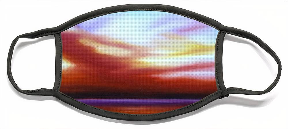 Skyscape Face Mask featuring the painting October Sky III by James Christopher Hill