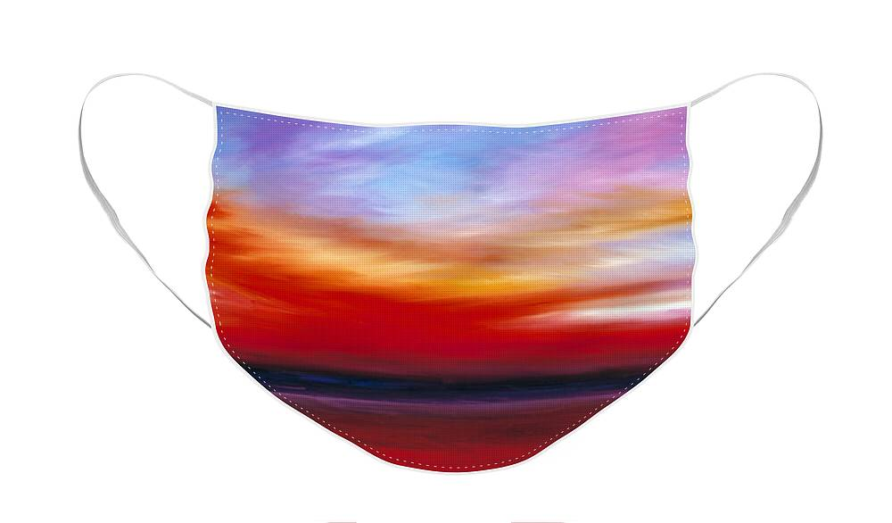 Clouds Face Mask featuring the painting October Sky by James Christopher Hill