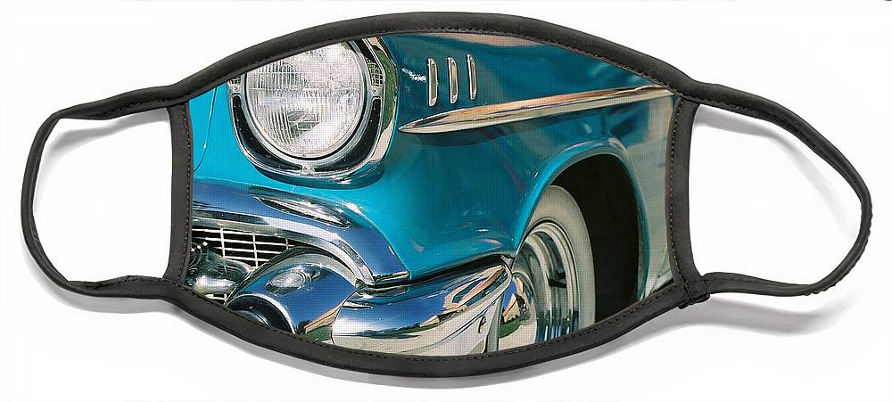 Chevy Face Mask featuring the photograph Old Chevy by Steve Karol