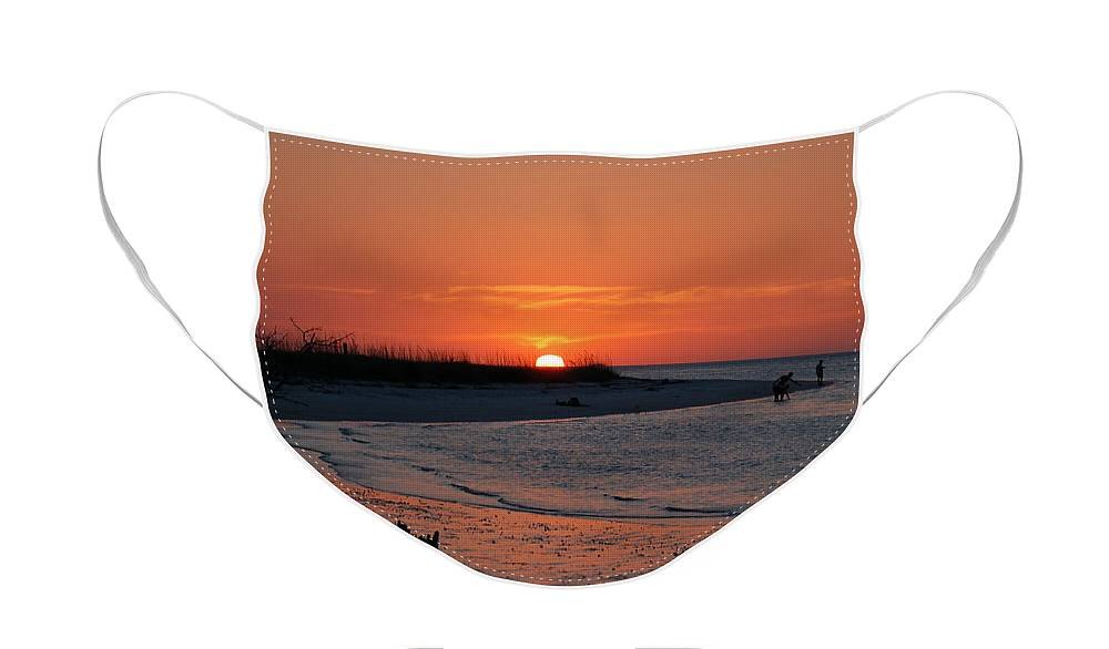 Beach Face Mask featuring the photograph On Lover's Key by Rich Leighton