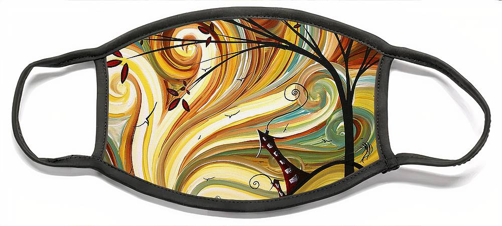 Art Face Mask featuring the painting OUT WEST Original MADART Painting by Megan Duncanson
