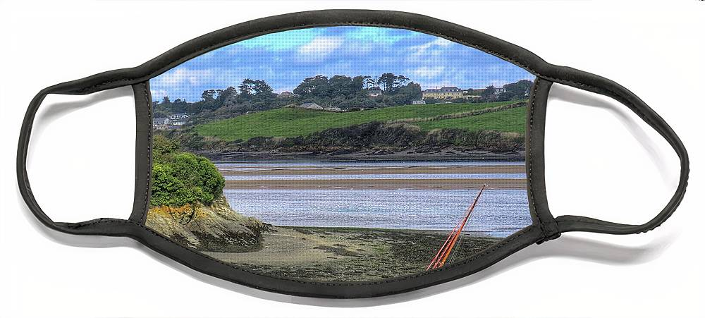 Padstow Face Mask featuring the digital art Padstow Tide by Scott Waters