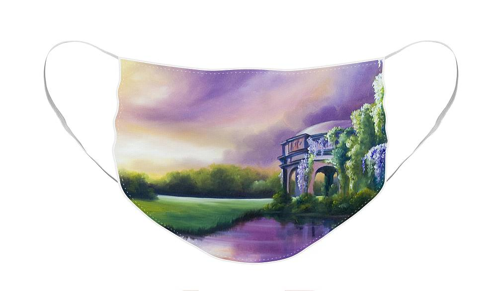 Marsh Face Mask featuring the painting Palace Of The Arts by James Christopher Hill