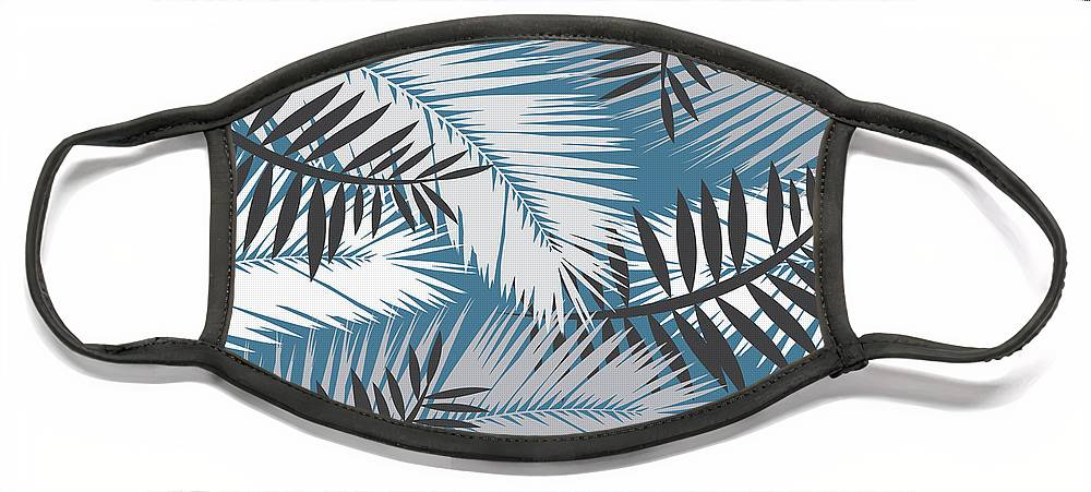 Summer Face Mask featuring the digital art Palm Trees 10 by Mark Ashkenazi