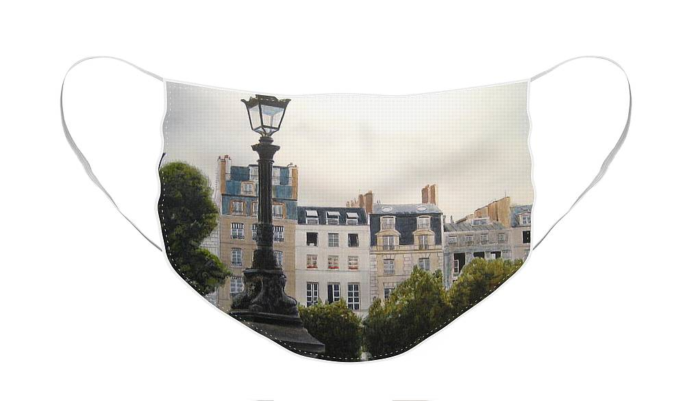 Paris Face Mask featuring the painting Paris Stroll by Victoria Heryet
