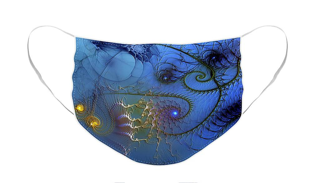 Abstract Face Mask featuring the digital art Philosophical Ventriloquism by Casey Kotas