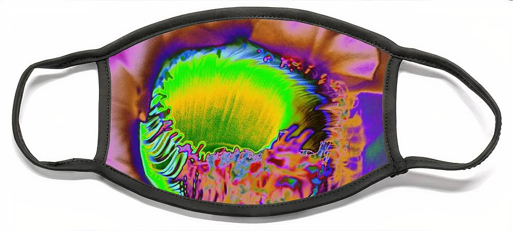 Cirrus Face Mask featuring the photograph Pink Psychedelic Cirrus by Richard Henne