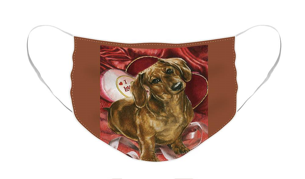 Purebred Face Mask featuring the mixed media Be Mine by Barbara Keith
