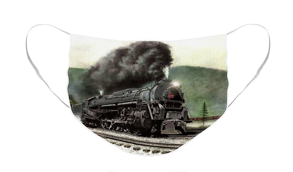 Face Mask featuring the painting Power on the Curve by David Mittner