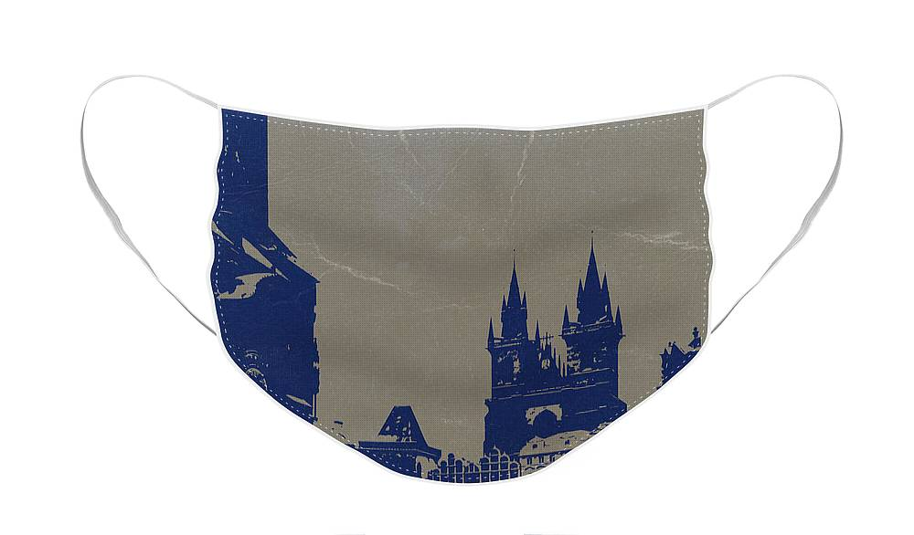 Prague Face Mask featuring the photograph Prague old town square by Naxart Studio