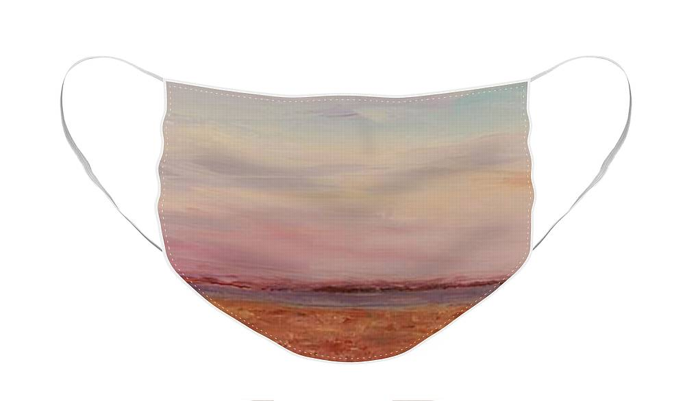 Landscape Face Mask featuring the painting Provence Camargue by Nadine Rippelmeyer