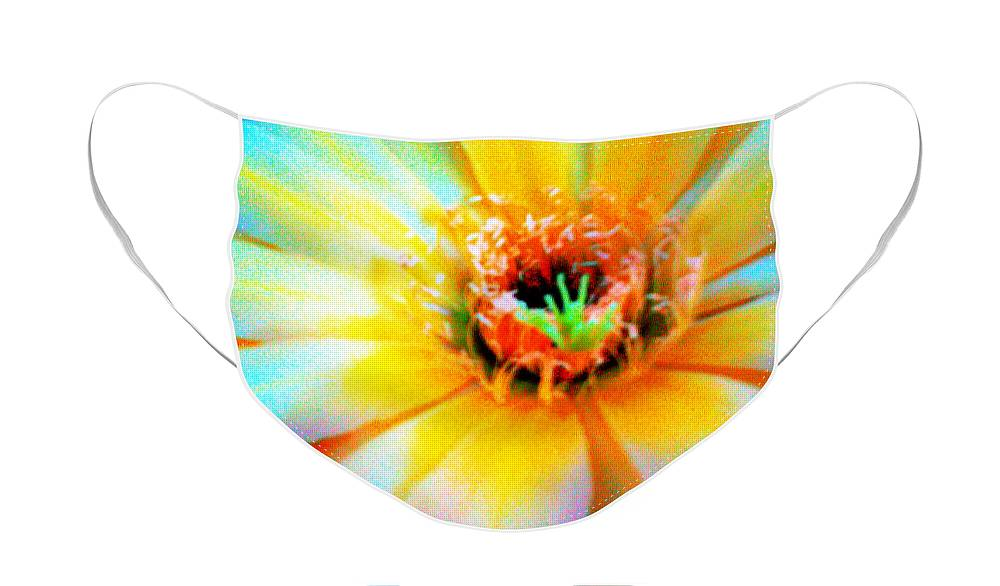 Cirrus Face Mask featuring the photograph Psychedelic Cirrus Bloom by Richard Henne
