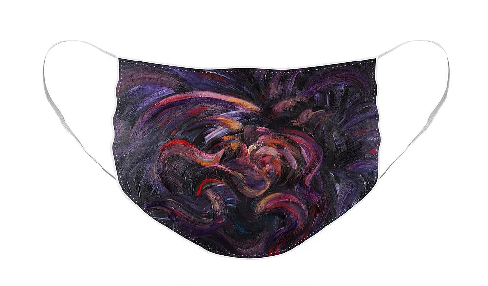Purple Face Mask featuring the painting Purple Passion by Nadine Rippelmeyer