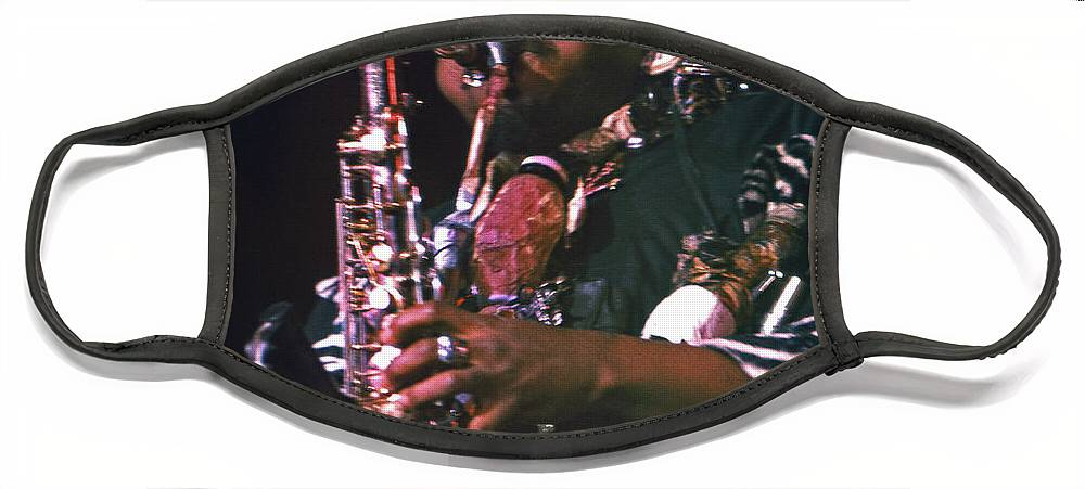 Rahsaan Roland Kirk Face Mask featuring the photograph Rahsaan Roland Kirk 4 by Lee Santa