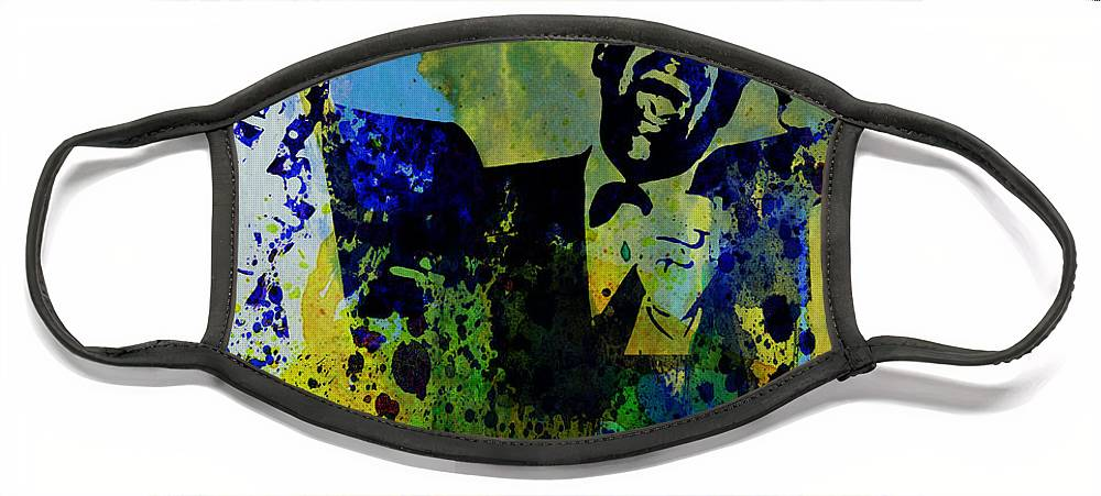 Frank Sinatra Face Mask featuring the painting Rat Pack by Naxart Studio
