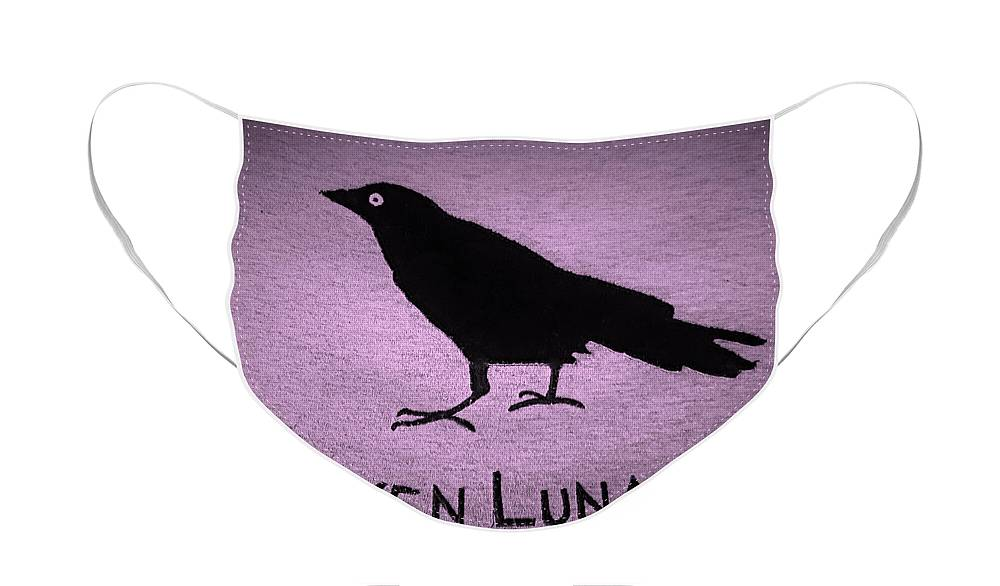 Bird Face Mask featuring the photograph Raven Lunatic Pink by Rob Hans