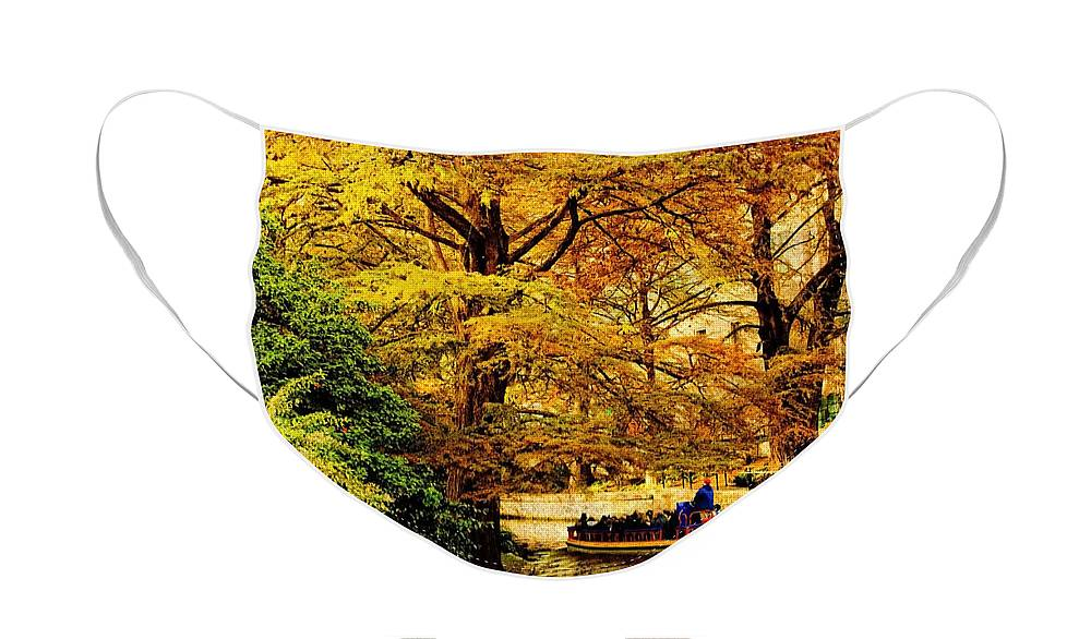Boat Face Mask featuring the photograph Ride on the Boat by Iris Greenwell
