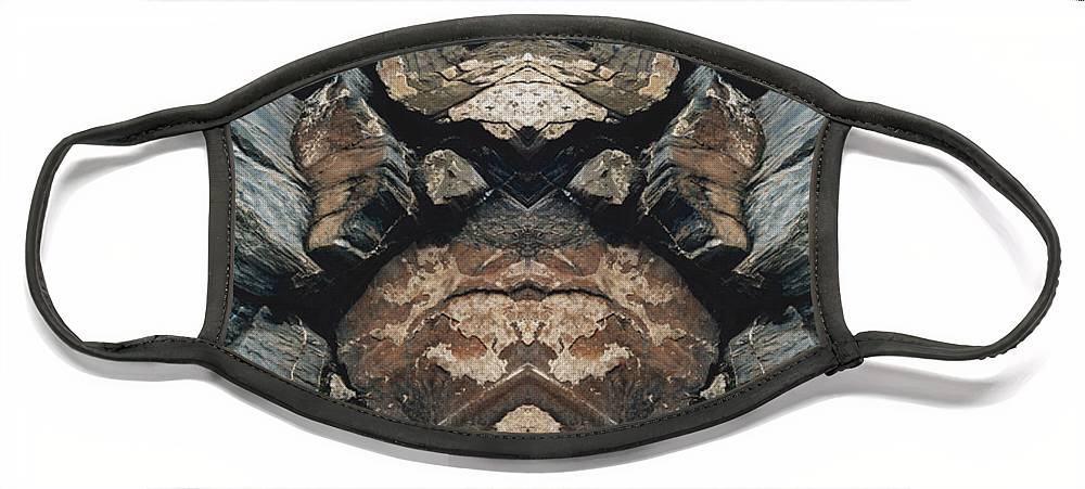 Rocks Face Mask featuring the photograph Rock Gods Rock Matron by Nancy Griswold