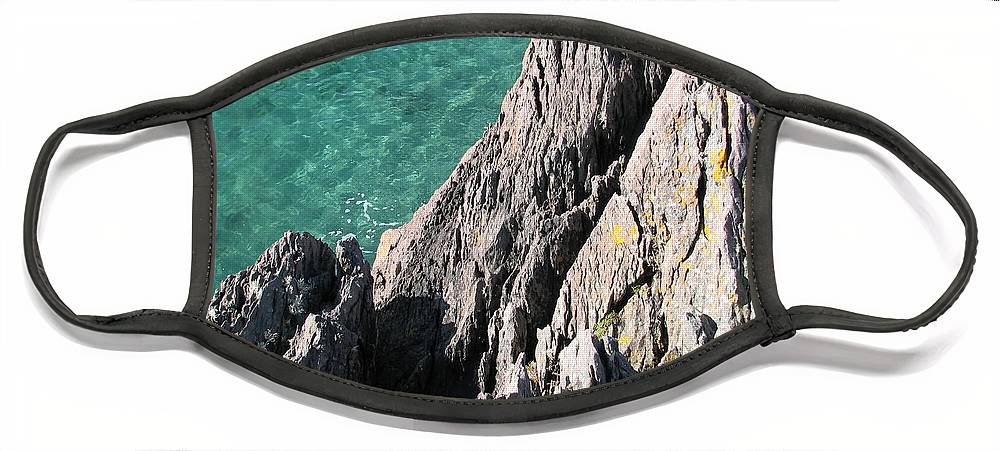 Kerry Face Mask featuring the photograph Rocks of Kerry by Kelly Mezzapelle