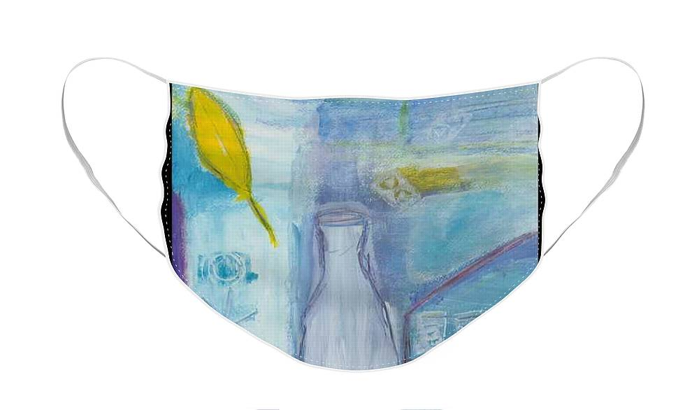 Abstract Face Mask featuring the painting Room 216 by Patricia Byron