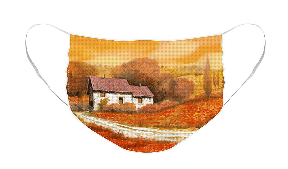 Tuscany Face Mask featuring the painting I papaveri rossi by Guido Borelli