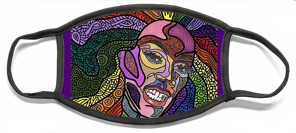 Rupaul Face Mask featuring the digital art Rupaul A Drag by Marconi Calindas