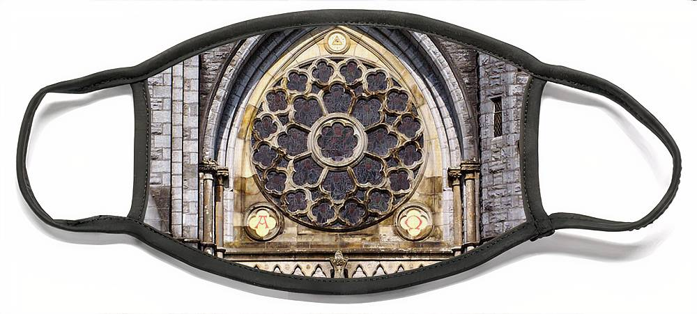 Ireland Face Mask featuring the photograph Sacred Heart Church Detail Roscommon Ireland by Teresa Mucha