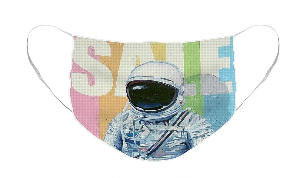 Astronaut Face Mask featuring the painting Sale by Scott Listfield
