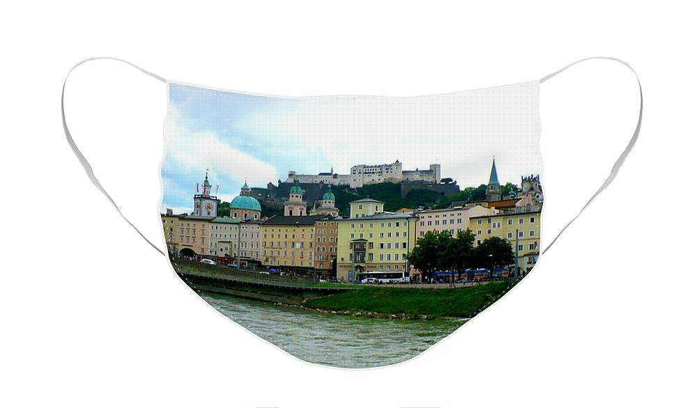 Salzburg Face Mask featuring the photograph Salzburg over the Danube by Carol Groenen