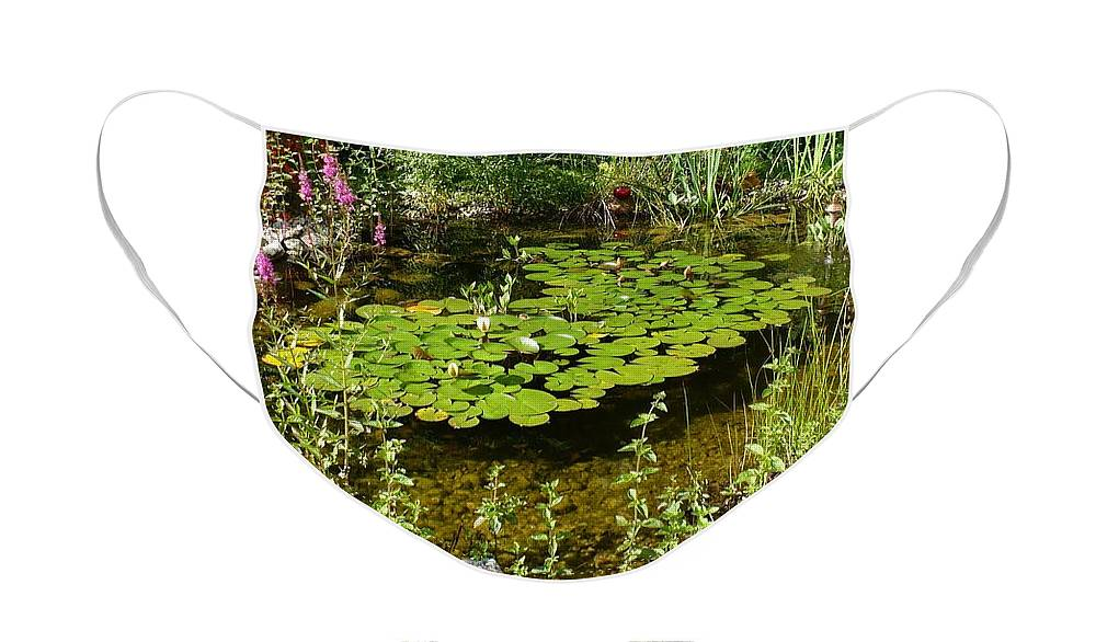Pond Face Mask featuring the photograph Salzburg Pond by Carol Groenen