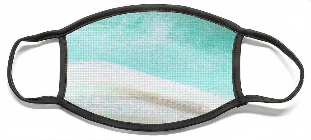Beach Face Mask featuring the painting Sand and Saltwater- Abstract Art by Linda Woods by Linda Woods