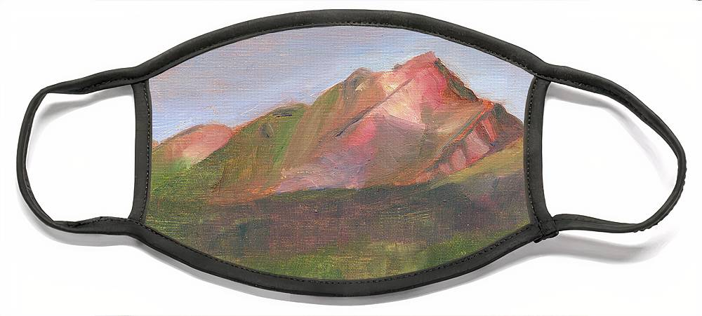 Colorado Face Mask featuring the painting Sangres I by Lilibeth Andre
