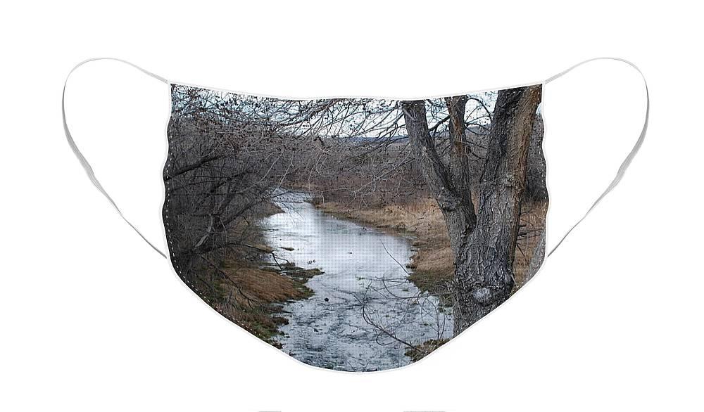 Santa Fe Face Mask featuring the photograph Santa Fe River by Rob Hans