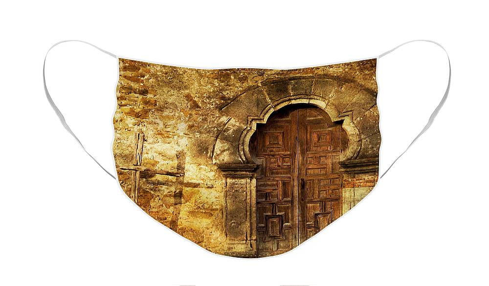 Door Face Mask featuring the photograph Santuary by Iris Greenwell