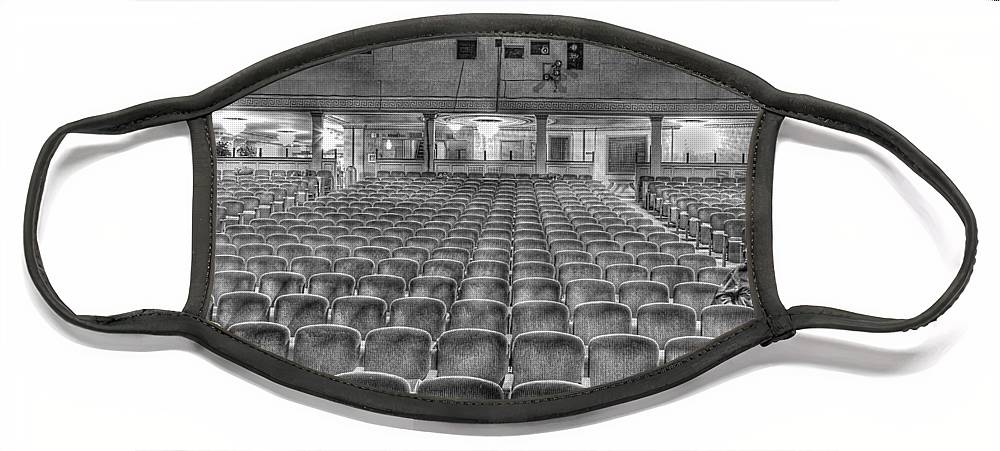Face Mask featuring the photograph Senate Theatre Seating Detroit MI by Nicholas Grunas