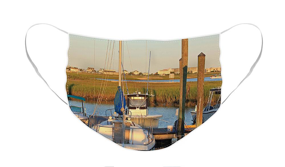 Boat Face Mask featuring the photograph Serenity by Suzanne Gaff