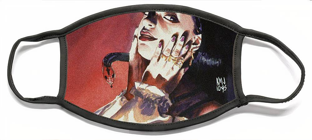 Women Face Mask featuring the painting Set by Ken Meyer jr