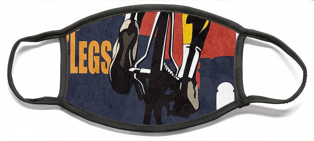 Shut Up Legs Tour De France Poster Face Mask featuring the painting Shut Up Legs Tour de France Poster by Sassan Filsoof