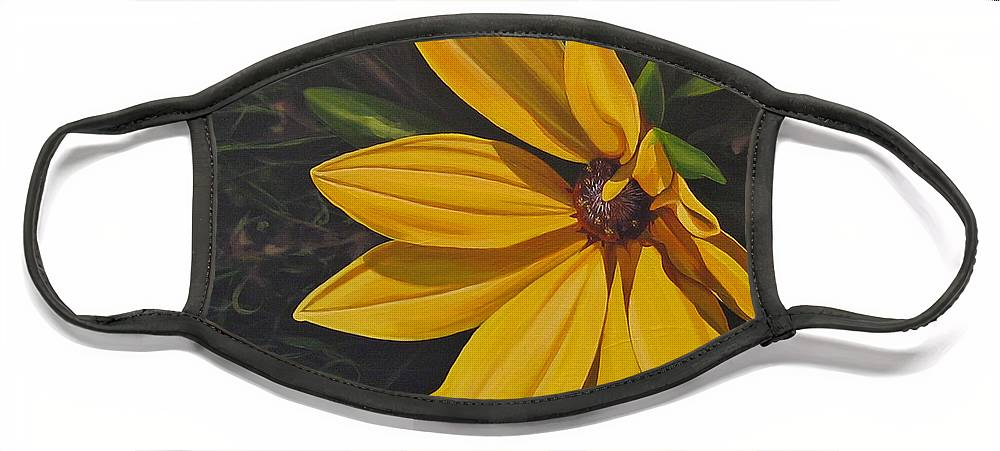 Wildflower Face Mask featuring the painting Sign of Summer by Hunter Jay