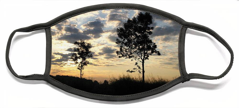 Landscape Face Mask featuring the photograph Silhouette by Rhonda Barrett