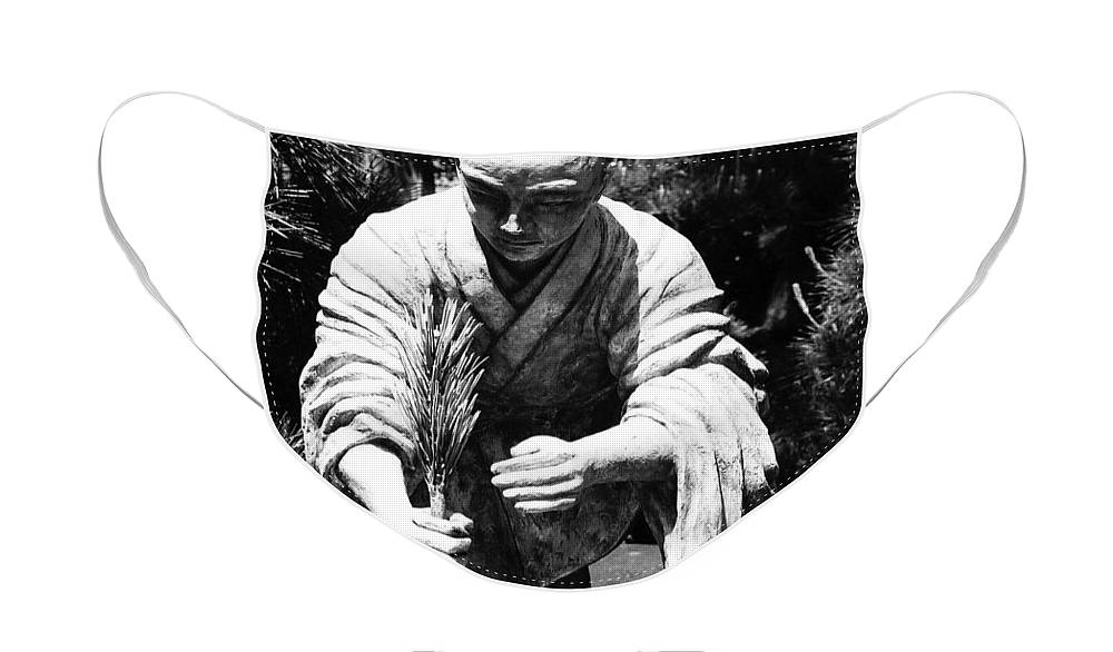 Asia Face Mask featuring the photograph Silver-Monk by Juergen Weiss