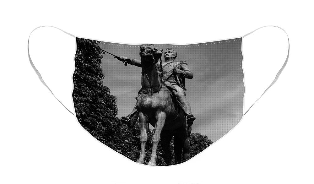 Simon Face Mask featuring the photograph Simon Bolivar by Juergen Weiss
